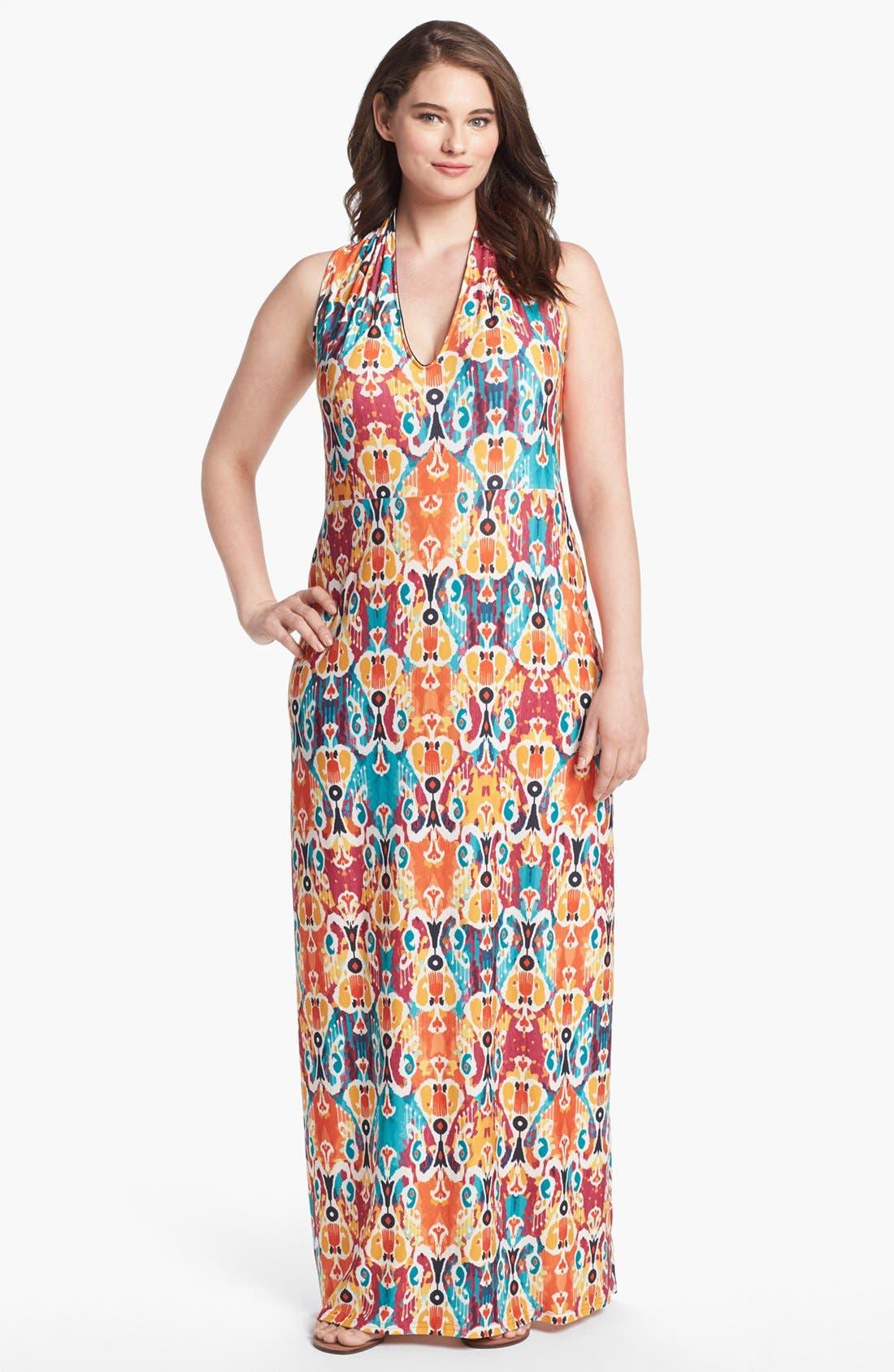 Main Image - Viereck 'Vendome' Print Maxi Dress (Plus Size)