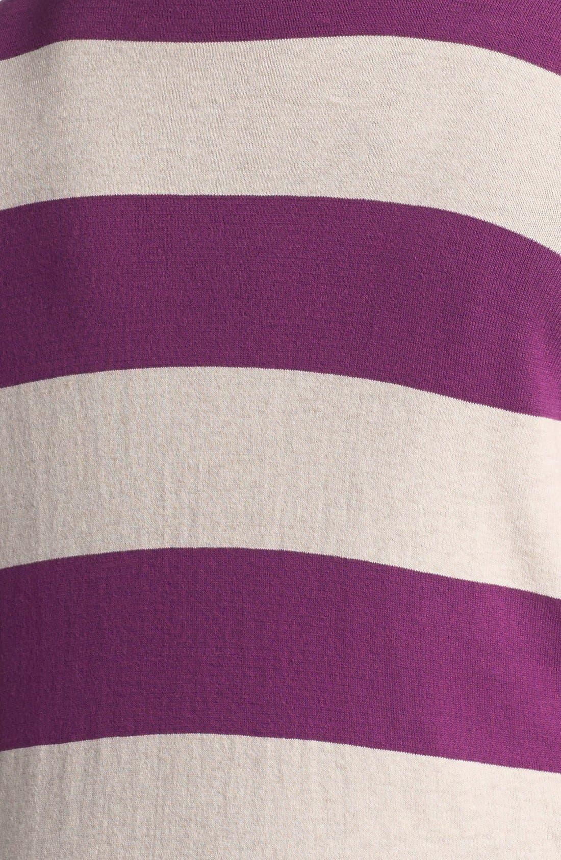 Alternate Image 3  - Halogen® Stripe Cardigan (Plus Size) (Online Only)
