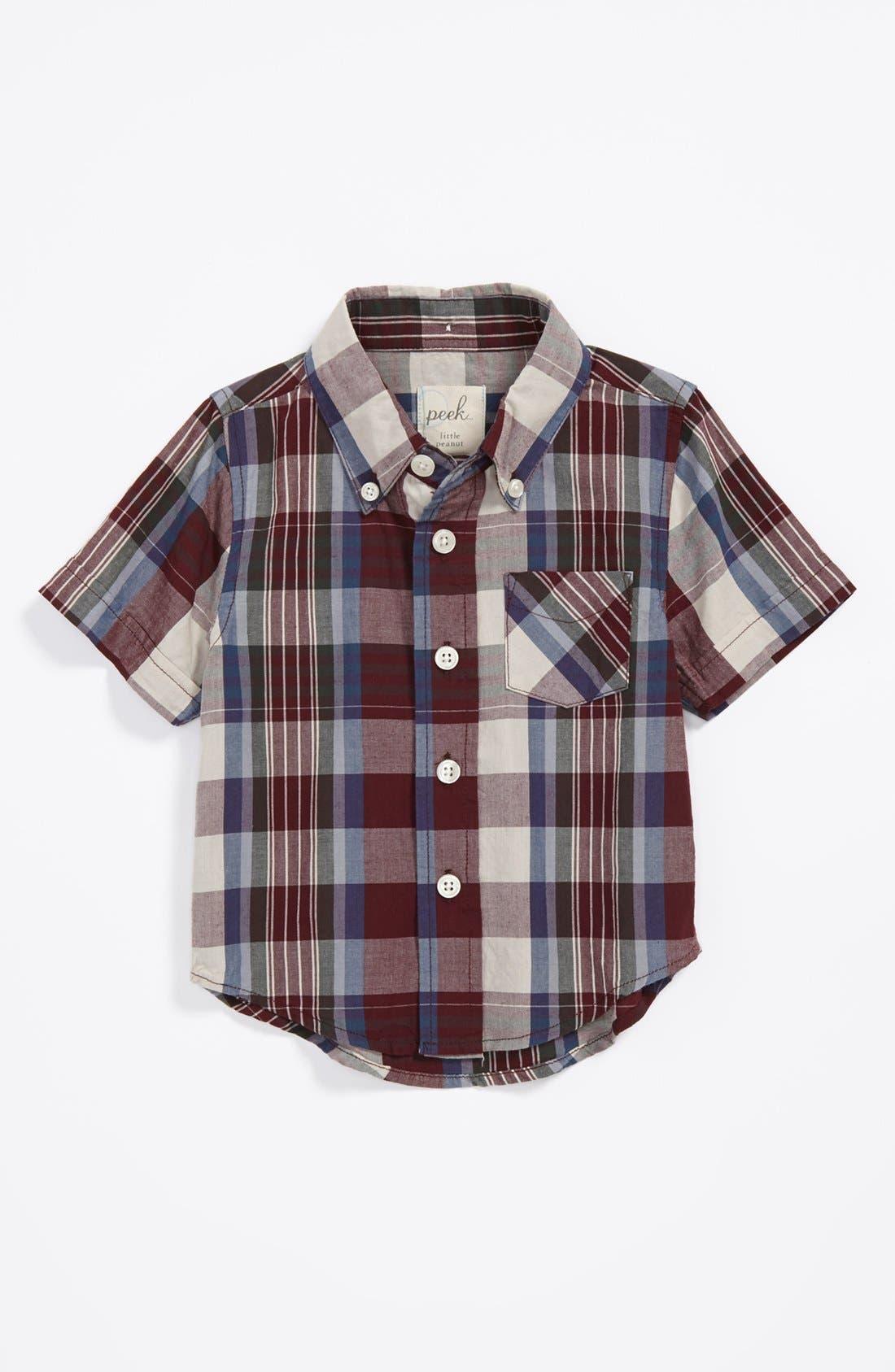 Main Image - Peek 'Oliver' Plaid Shirt (Baby Boys)