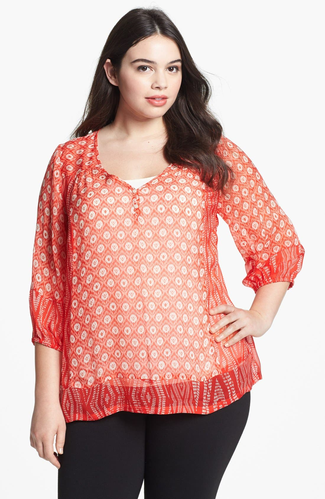 Alternate Image 1 Selected - Lucky Brand 'Caley' Tunic (Plus)