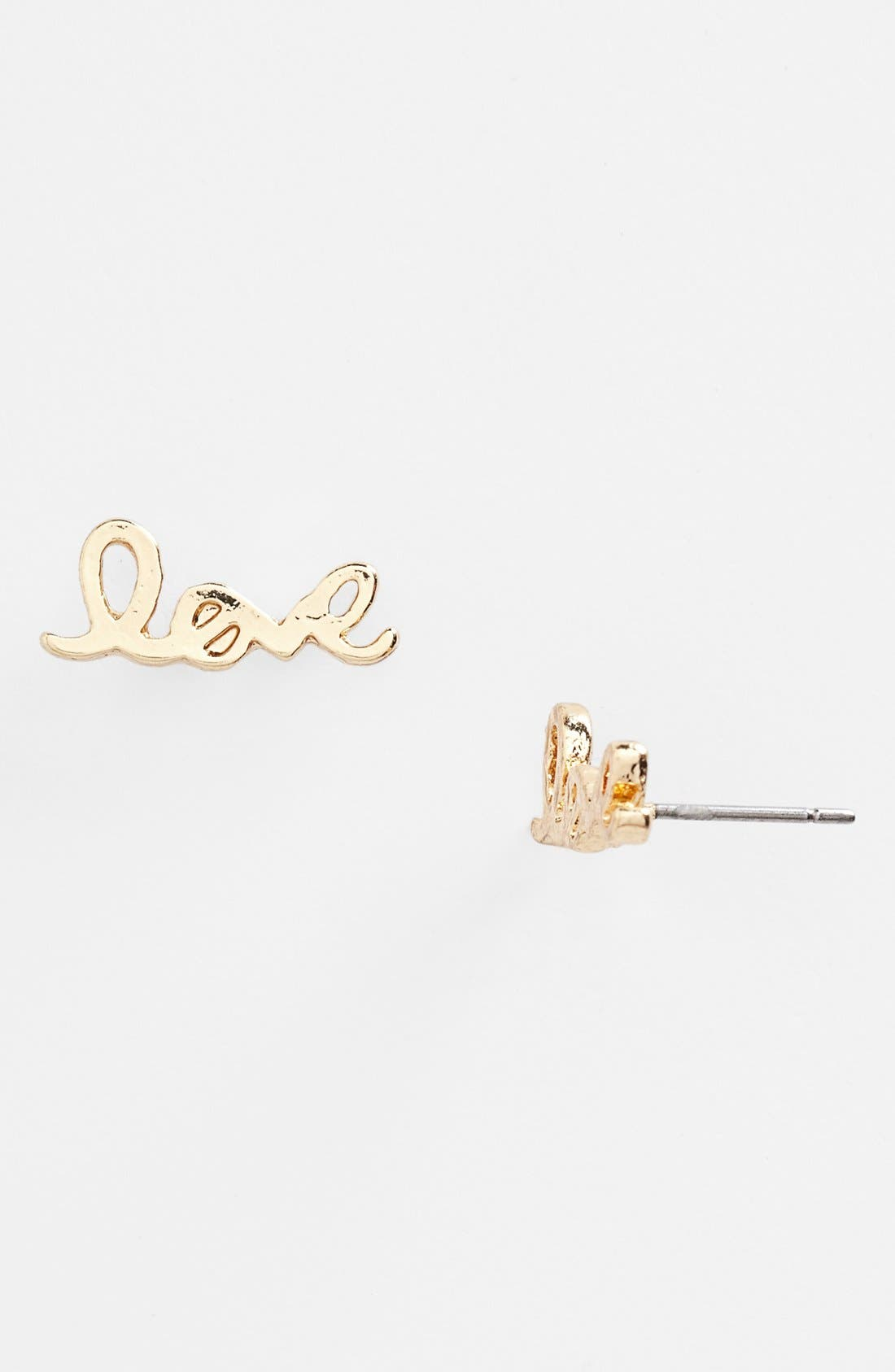 Alternate Image 1 Selected - BP. 'Love' Earrings (Juniors)