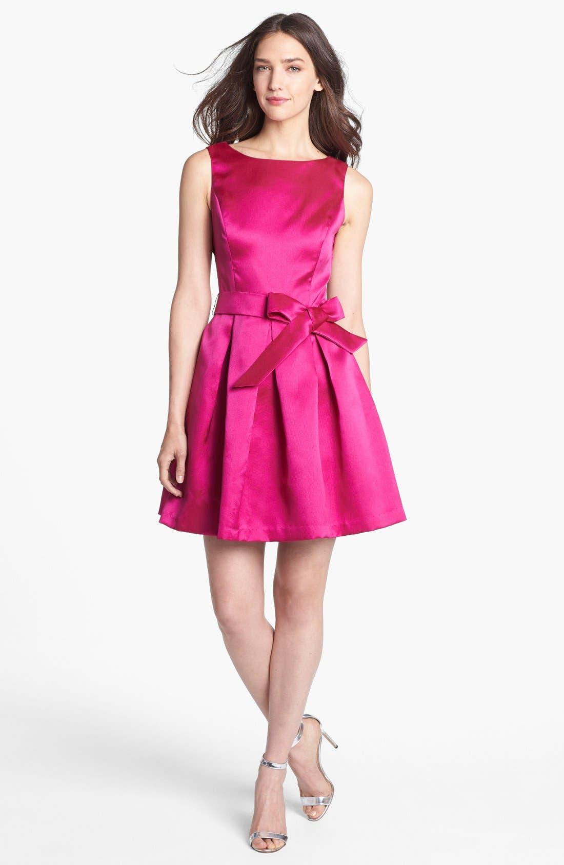 Alternate Image 3  - Isaac Mizrahi New York Mikado Fit & Flare Dress