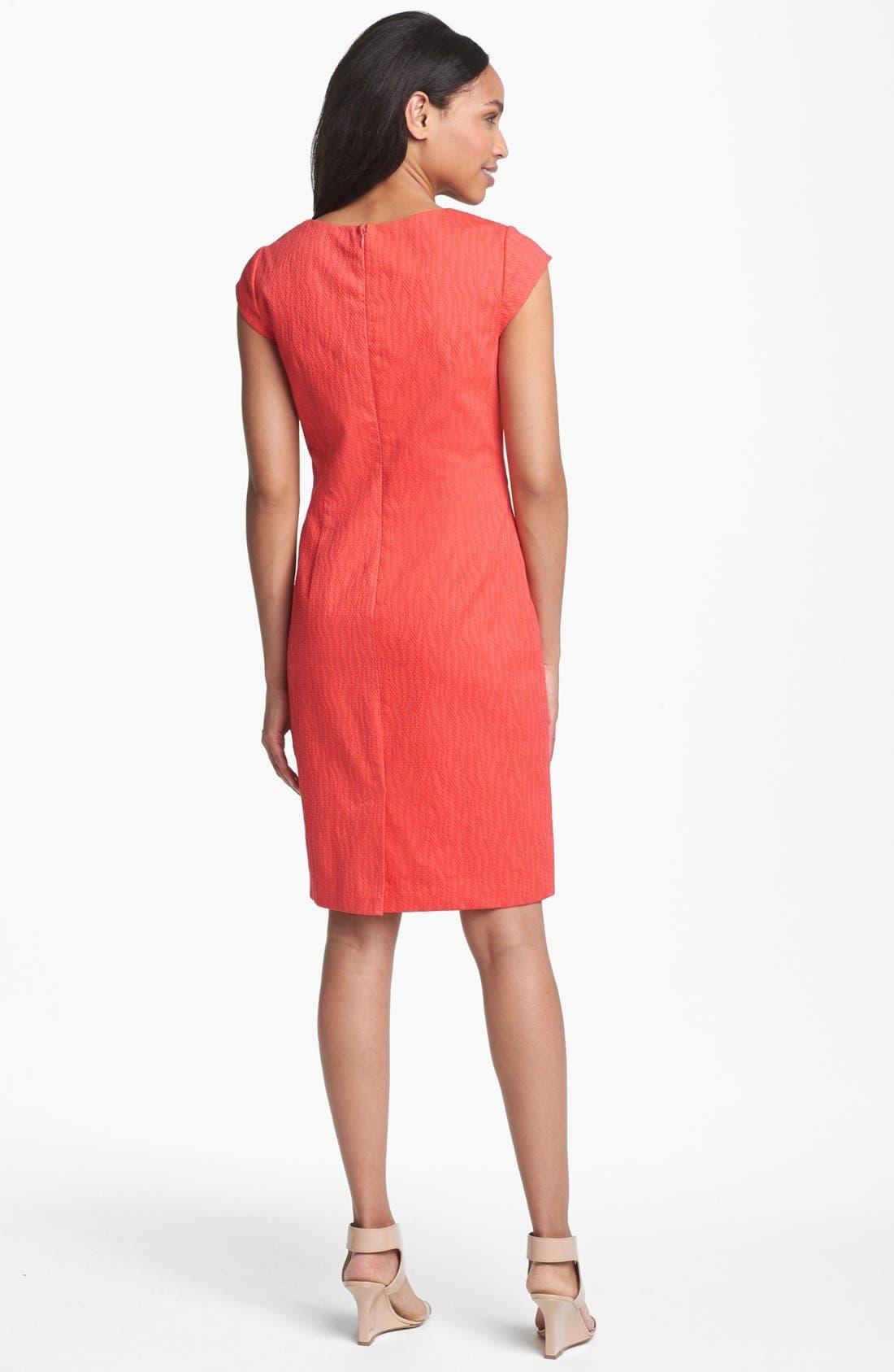 Alternate Image 2  - Adrianna Papell Textured Sheath Dress