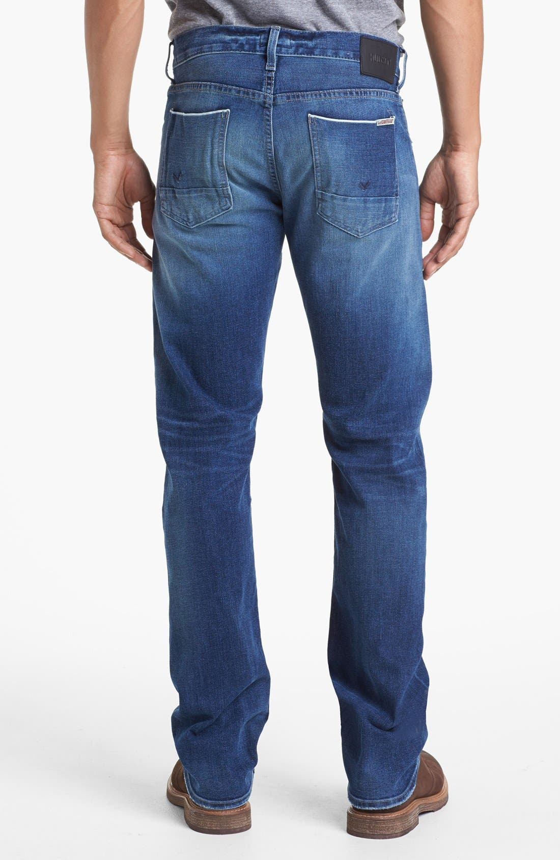 'Byron' Straight Leg Selvedge Jeans,                         Main,                         color, Belize