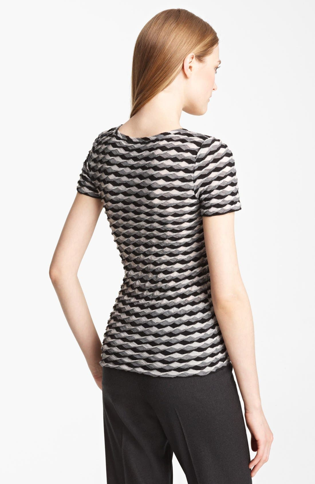 Alternate Image 2  - Armani Collezioni Geometric Wave Knit Jersey Top
