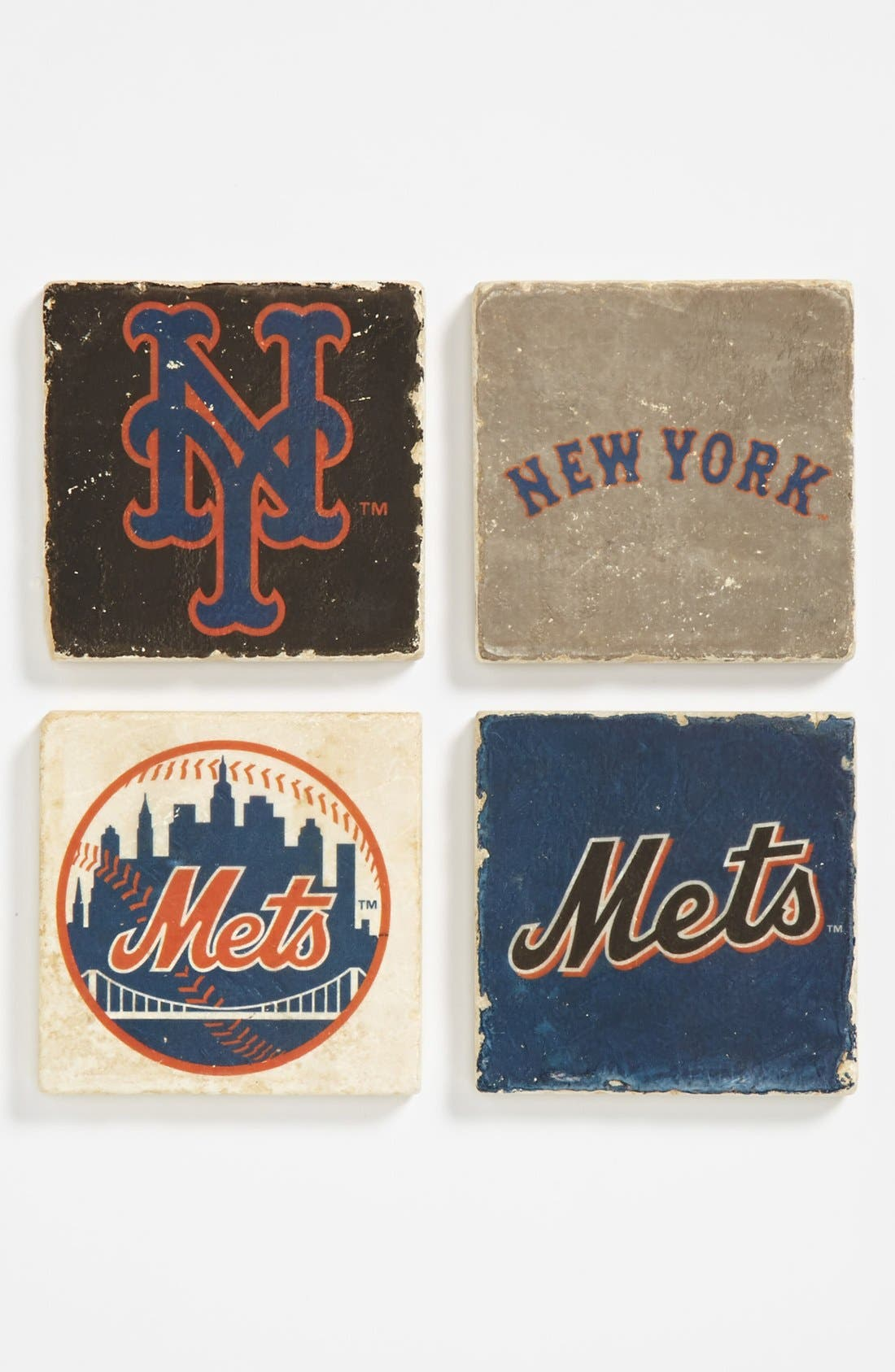 Main Image - 'New York Mets' Marble Coasters (Set of 4)