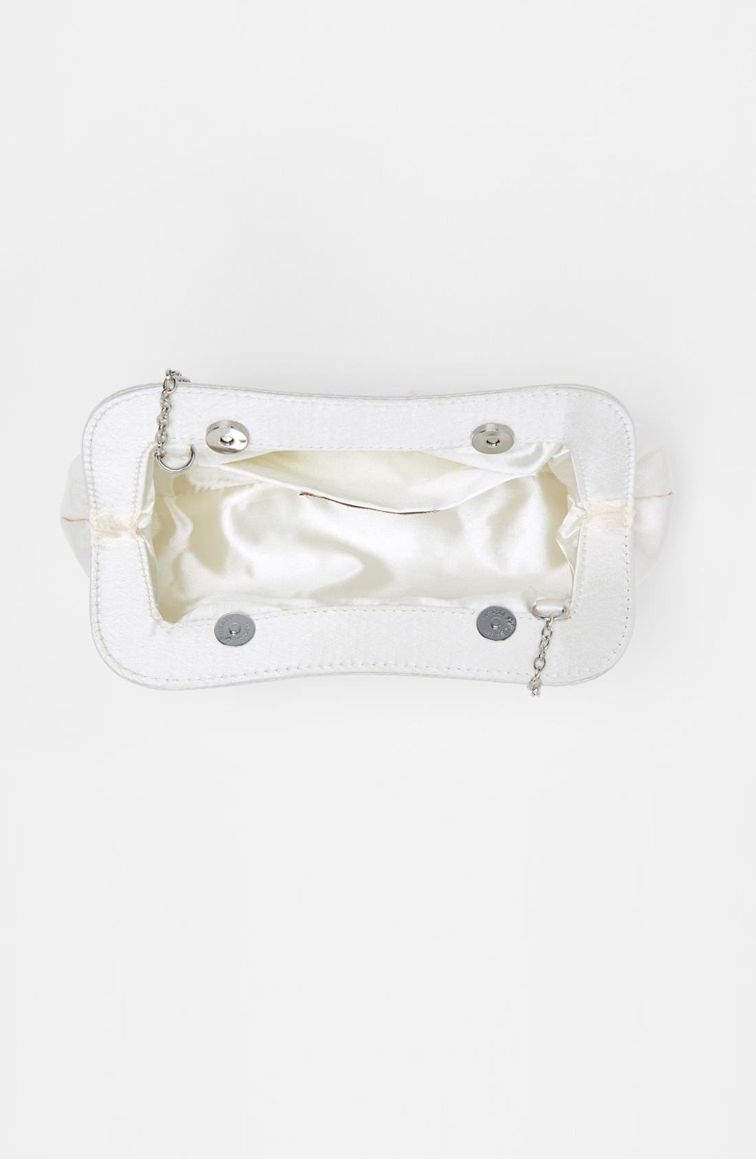 Satin Frame Clutch,                             Alternate thumbnail 3, color,                             Ivory