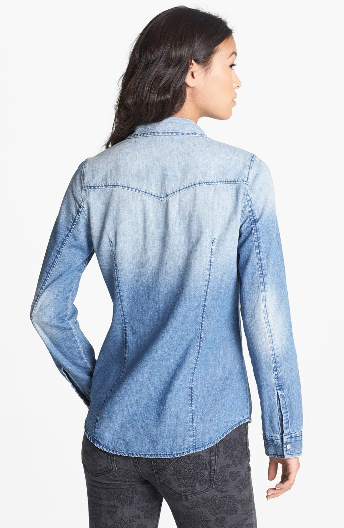 Alternate Image 2  - Rubbish® Chambray Western Shirt (Juniors)