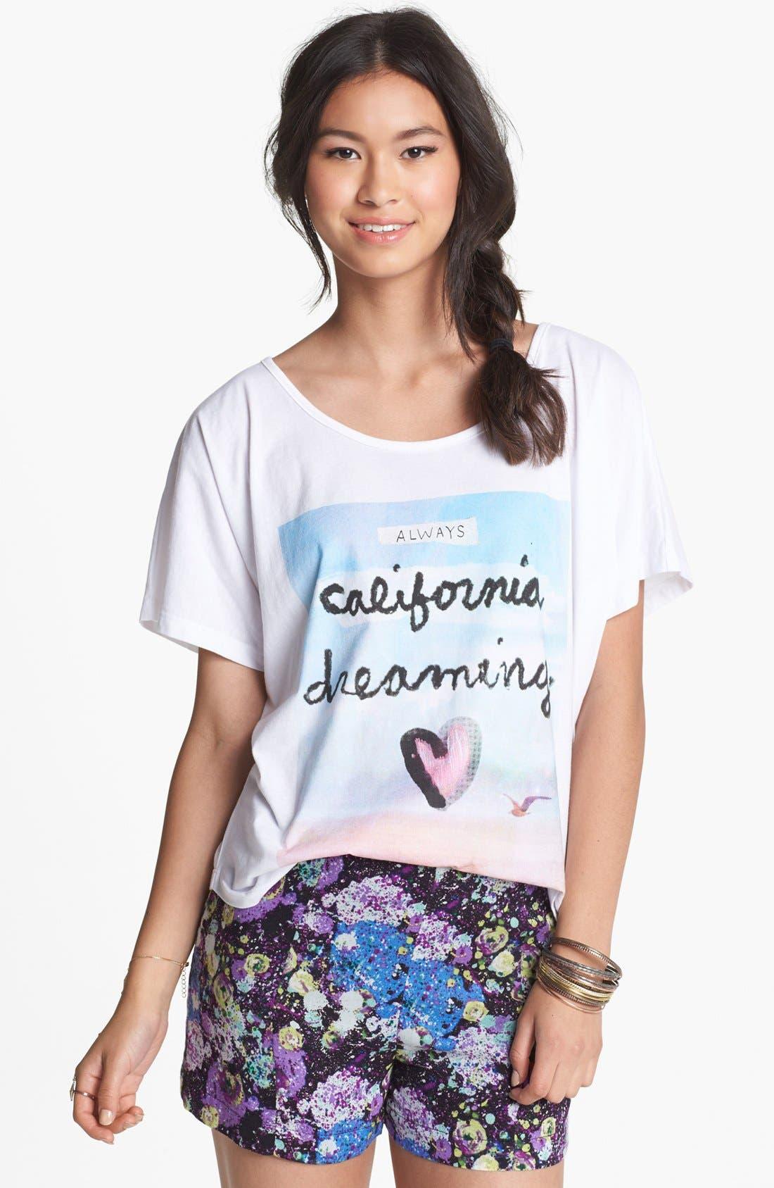 Alternate Image 1 Selected - Malibu Native 'California Dreaming' Graphic Tee (Juniors)