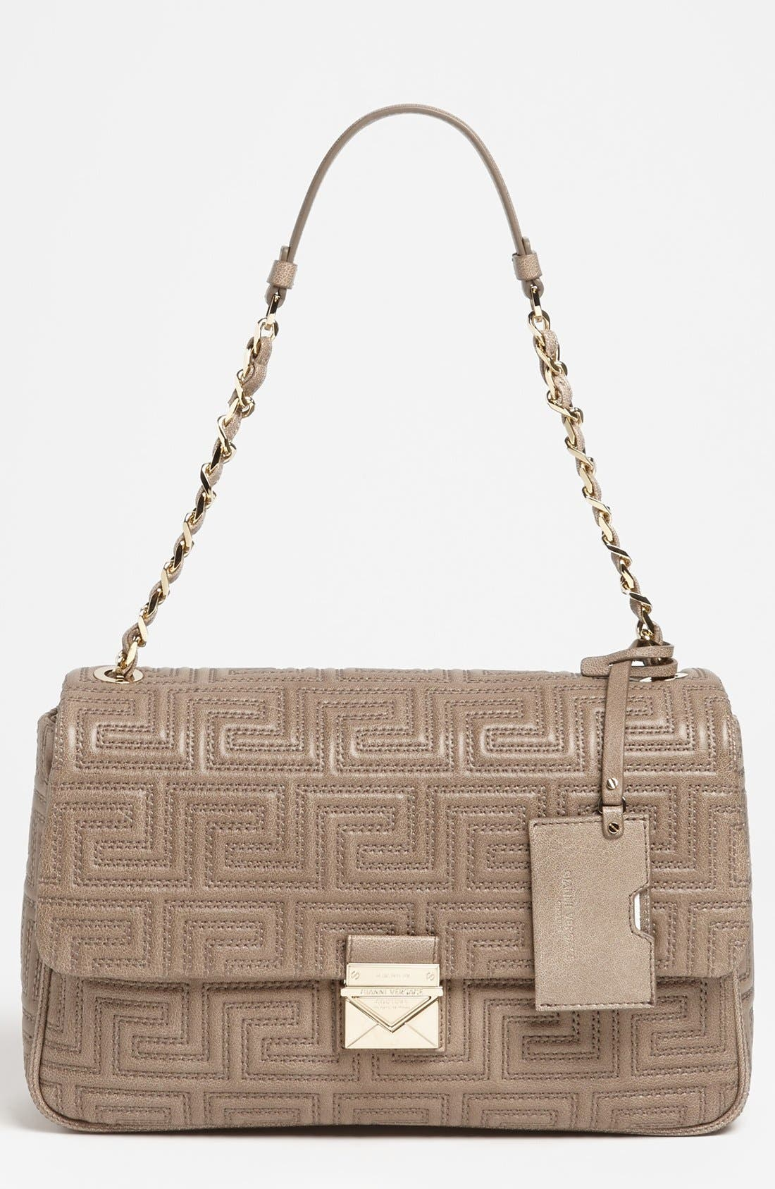 Alternate Image 1 Selected - Versace 'Couture' Leather Flap Shoulder Bag