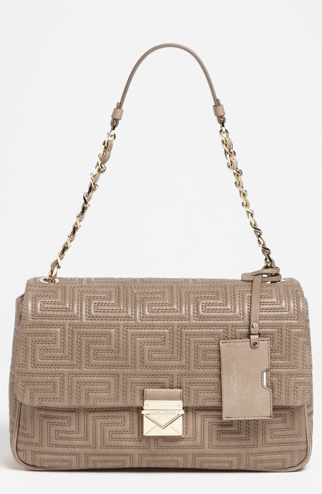 Main Image - Versace 'Couture' Leather Flap Shoulder Bag