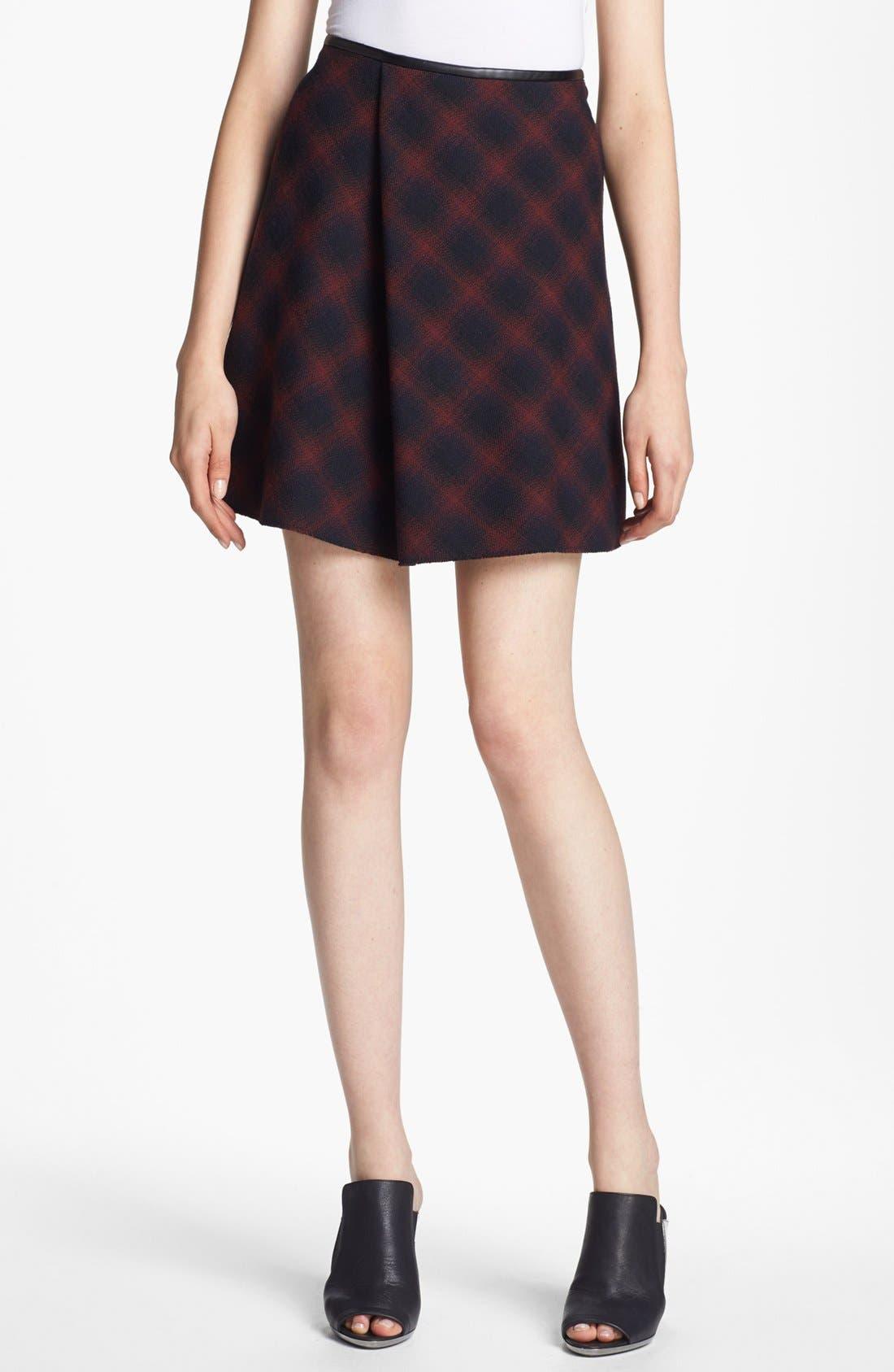 Main Image - 3.1 Phillip Lim Flared Plaid Skirt