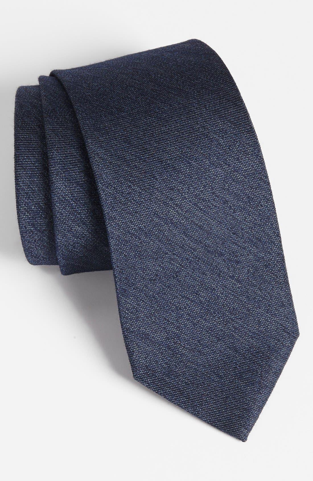 Alternate Image 1 Selected - Z Zegna Woven Silk & Wool Tie