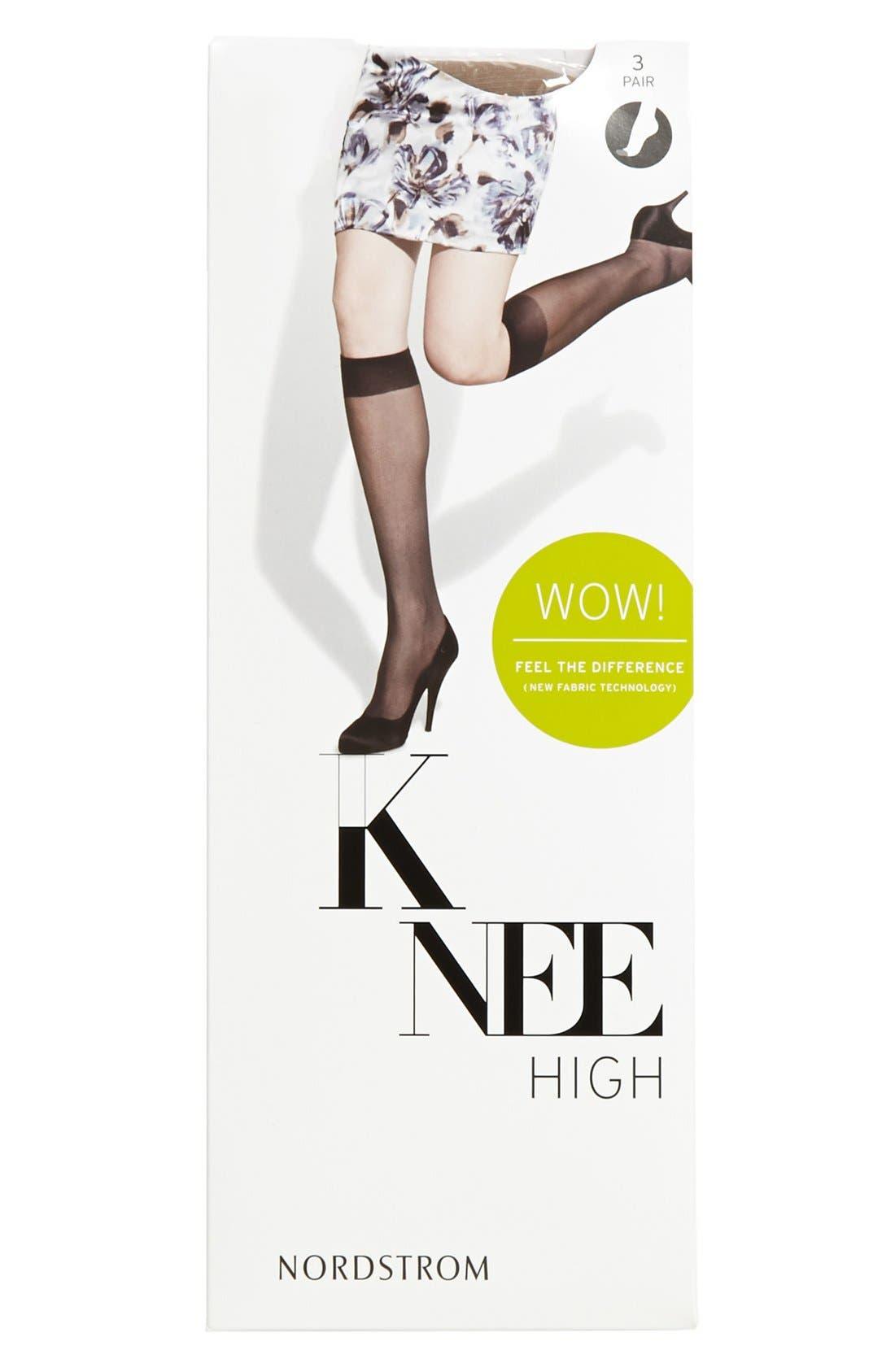 Alternate Image 3  - Nordstrom Sheer Knee High Trouser Socks