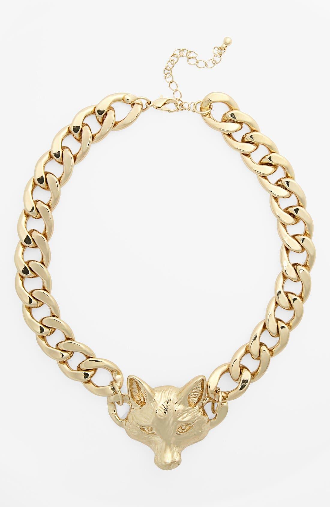 Main Image - Kool Konnections Fox Chain Necklace (Juniors)