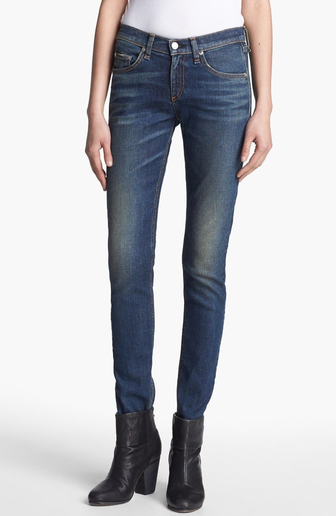 Alternate Image 1 Selected - rag & bone/JEAN Skinny Stretch Jeans (Stratham)
