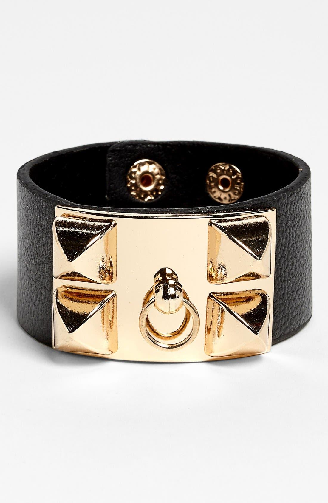 Main Image - BP. Faux Leather Cuff Bracelet (Juniors)