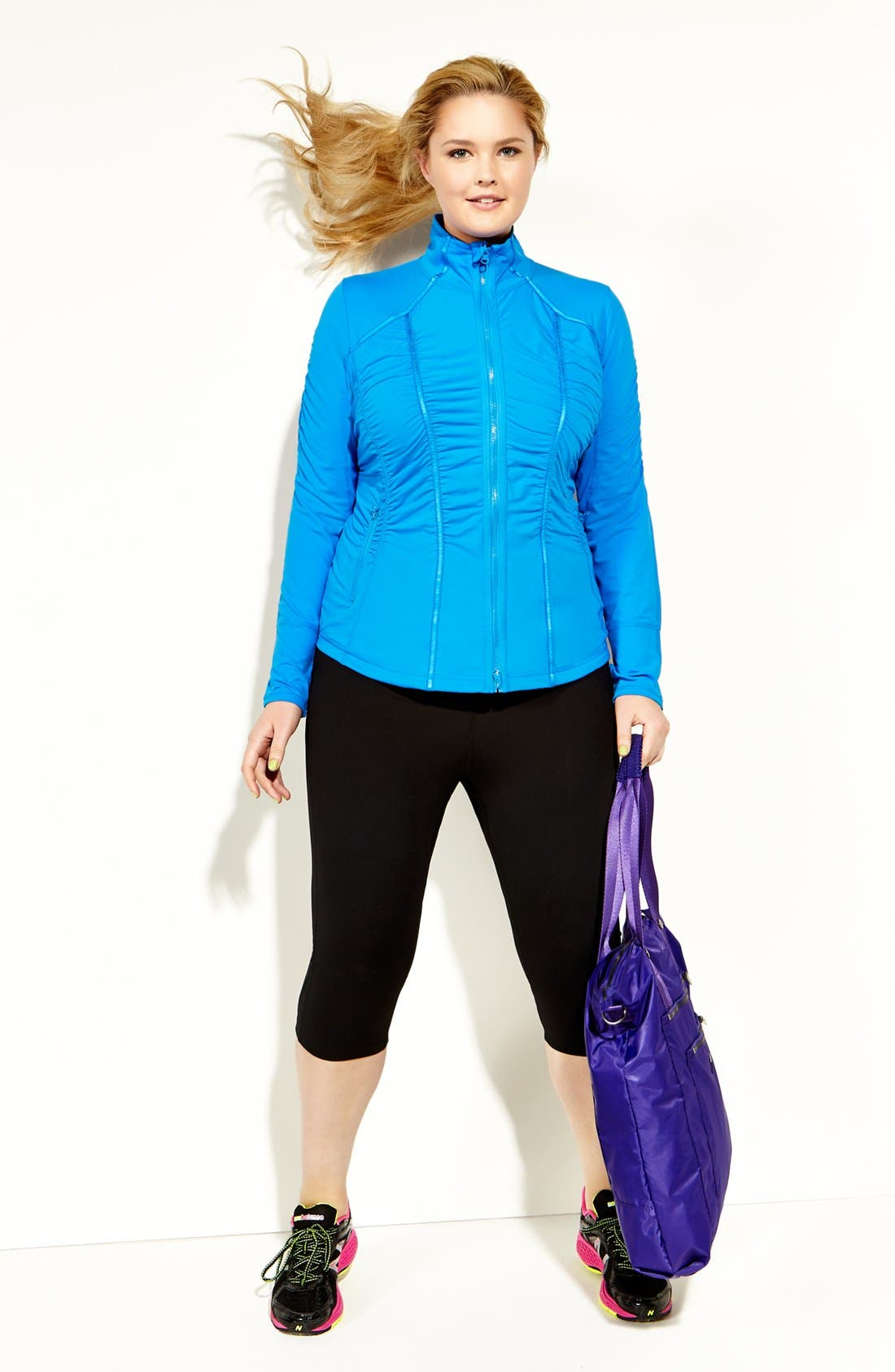 Main Image - Zella Jacket & Capri Pants