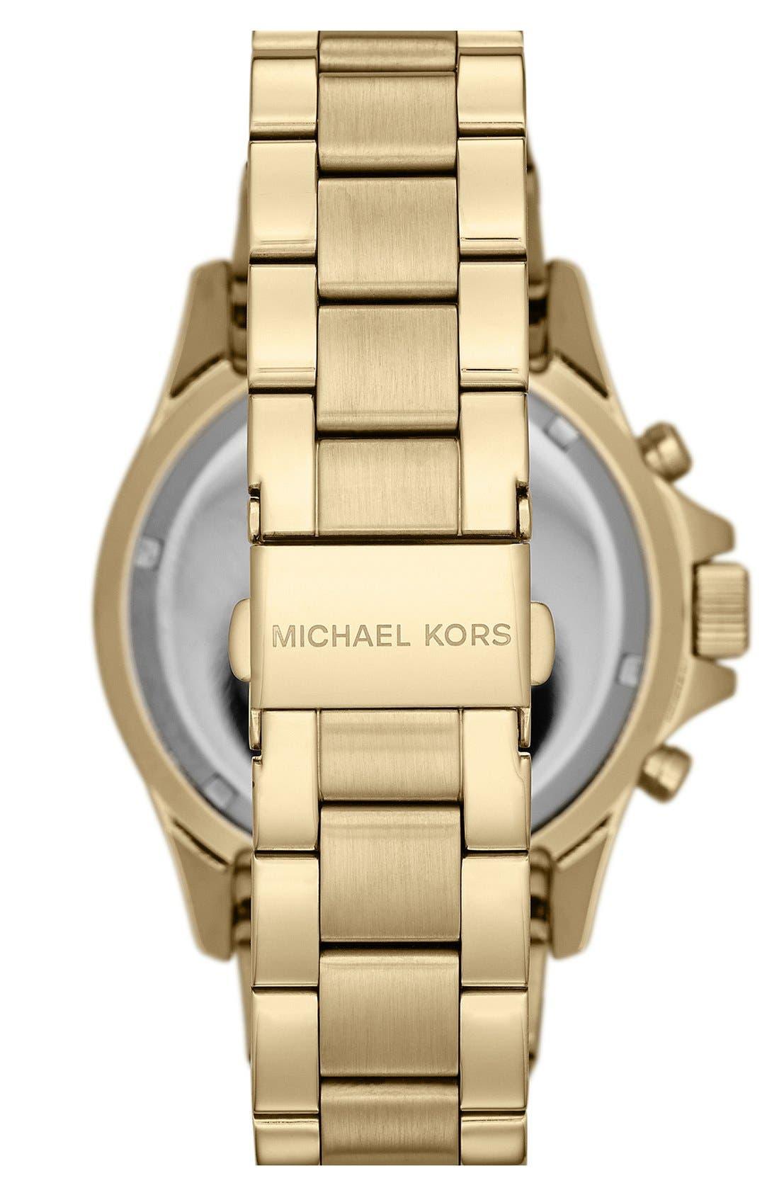 Alternate Image 2  - Michael Kors 'Everest' Baguette Crystal Bezel Bracelet Watch, 41mm