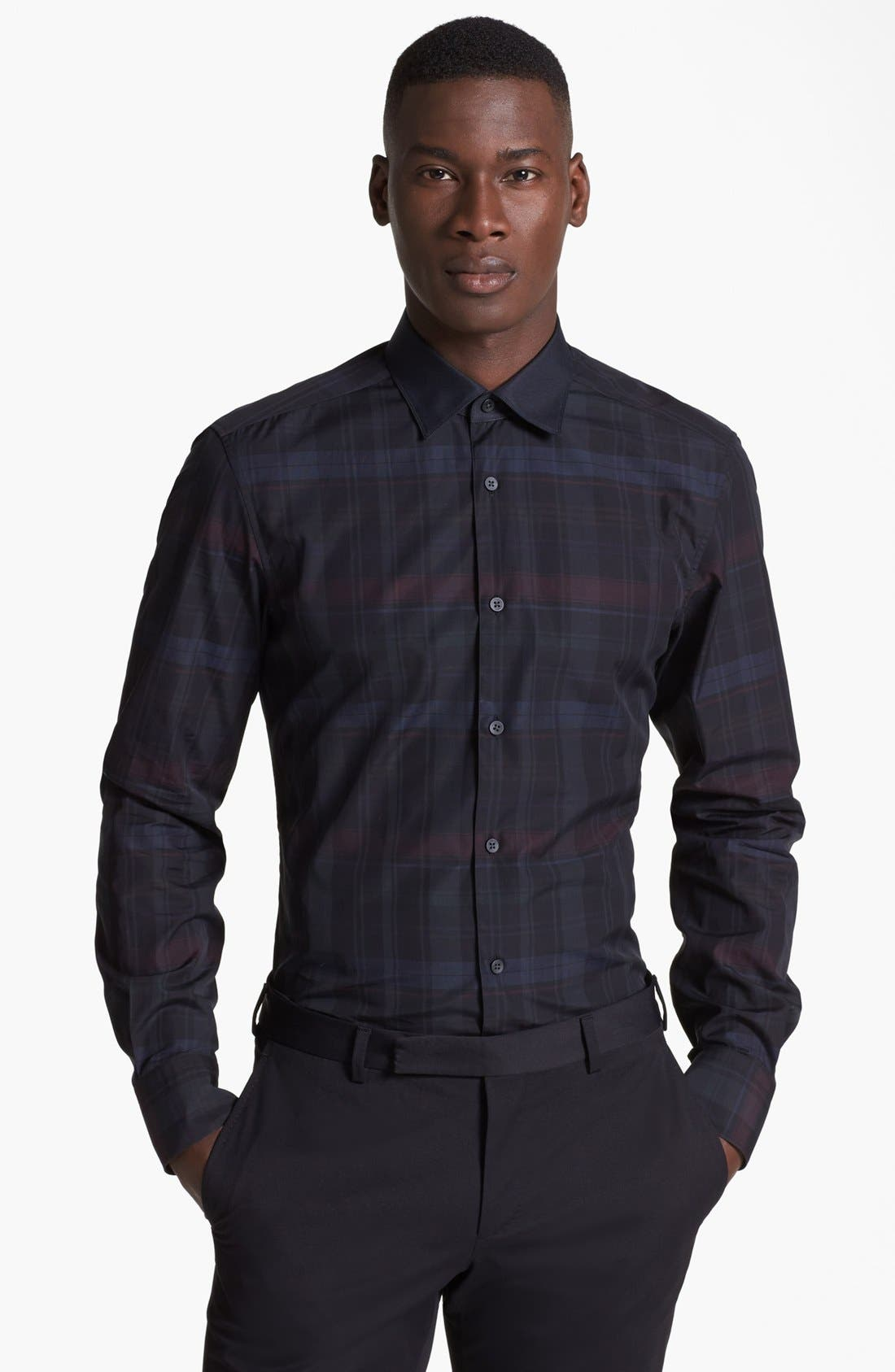 Alternate Image 1 Selected - Z Zegna Plaid Check Woven Shirt