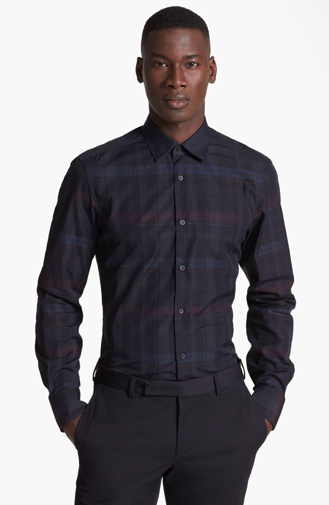 Main Image - Z Zegna Plaid Check Woven Shirt