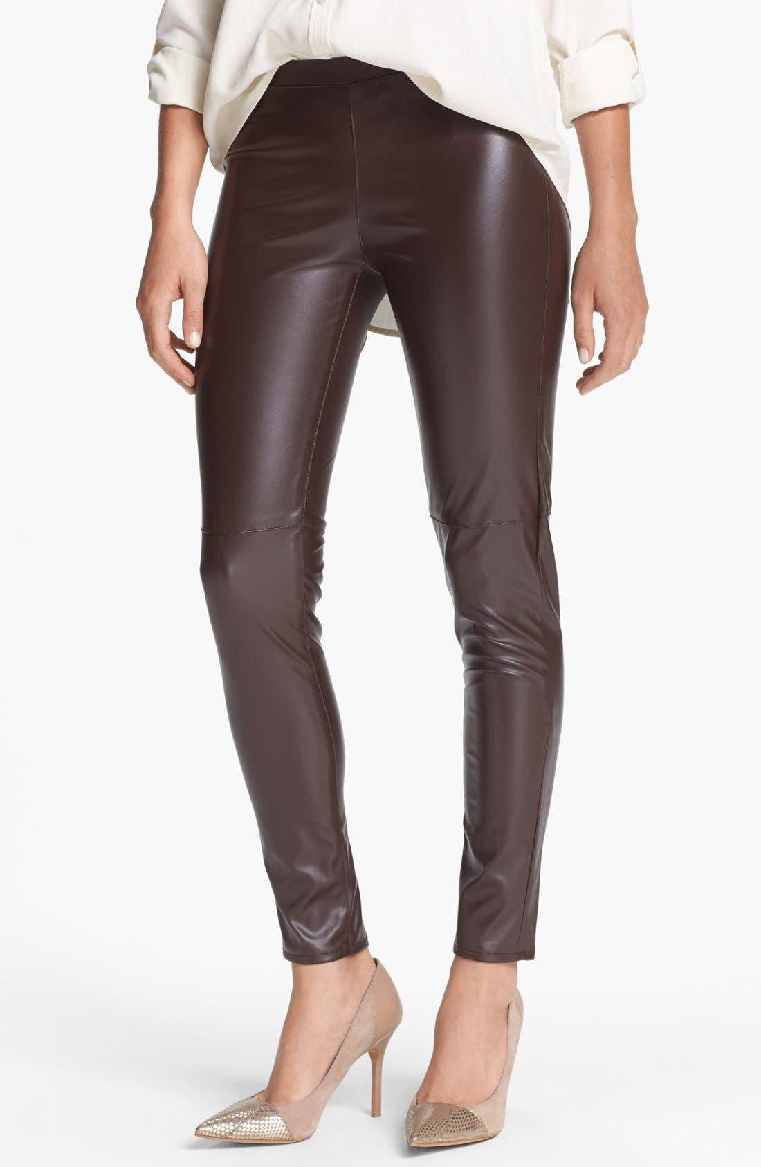Alternate Image 1 Selected - MICHAEL Michael Kors Faux Leather Leggings
