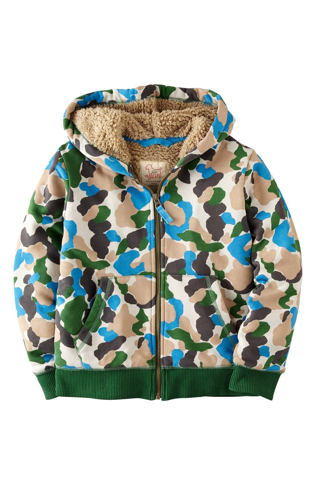 Alternate Image 1 Selected - Mini Boden 'Shaggy' Hoodie (Toddler Boys, Little Boys & Big Boys)