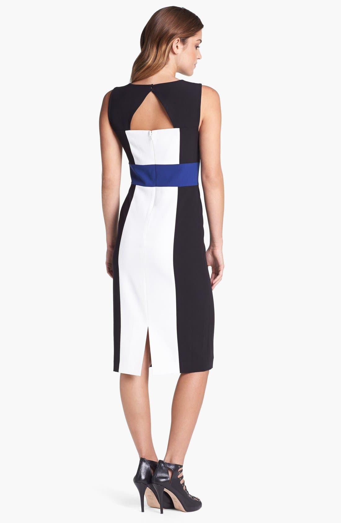 Alternate Image 2  - BCBGMAXAZRIA Cutout Colorblock Sheath Dress
