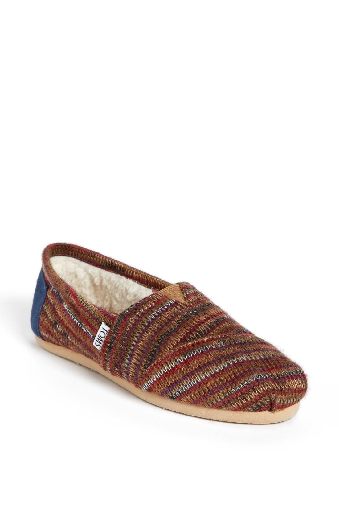 Main Image - TOMS 'Classic - Rust Knit' Slip-On (Women)