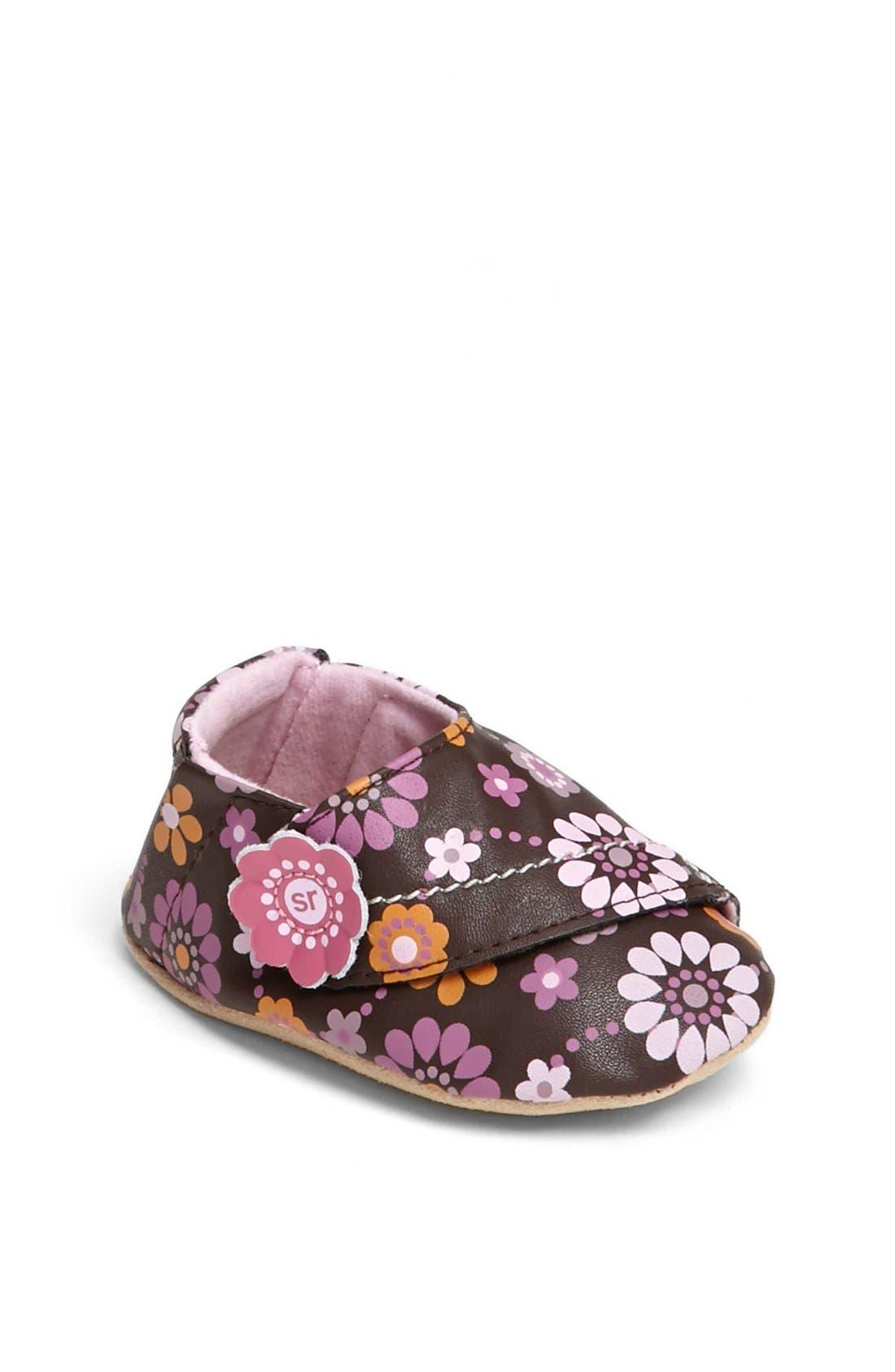 Alternate Image 1 Selected - Stride Rite 'Floral Fun' Crib Shoe (Baby Girls)