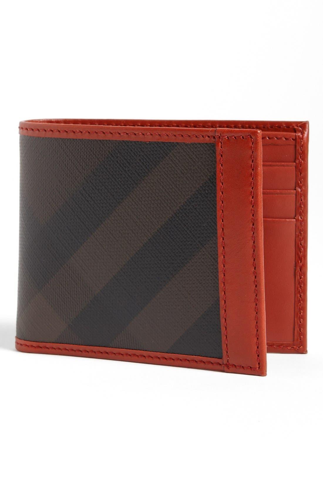 Main Image - Burberry Check Print Bifold Wallet