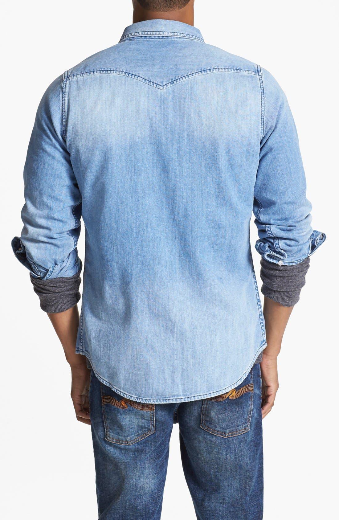Alternate Image 2  - DIESEL® 'Sonora' Chambray Denim Shirt