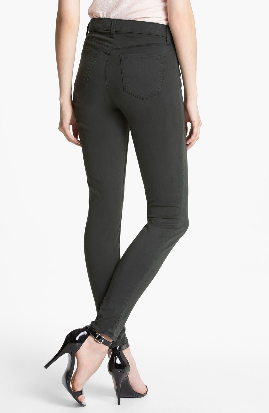 Alternate Image 2  - J Brand 'Maria 2311' High Rise Skinny Jeans (Presidio)