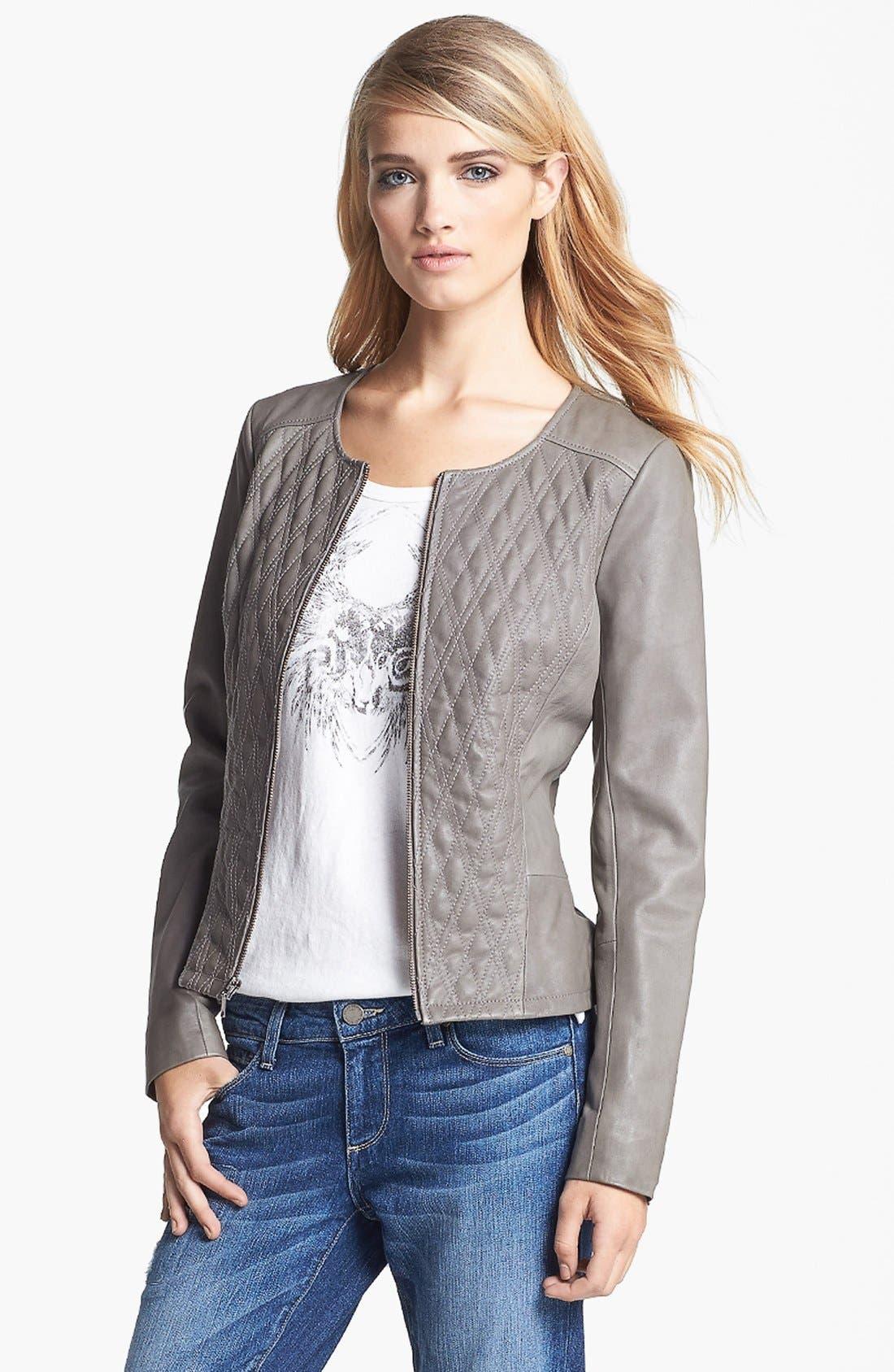 Alternate Image 3  - Hinge® Quilted Leather Jacket
