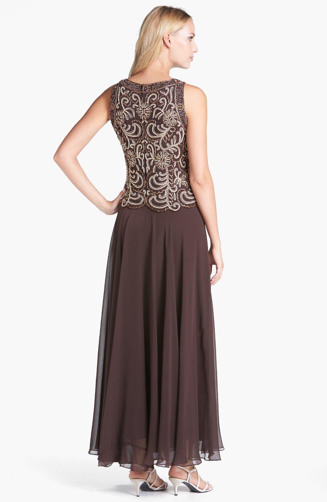 Alternate Image 2  - J Kara Beaded Mock Two-Piece Dress