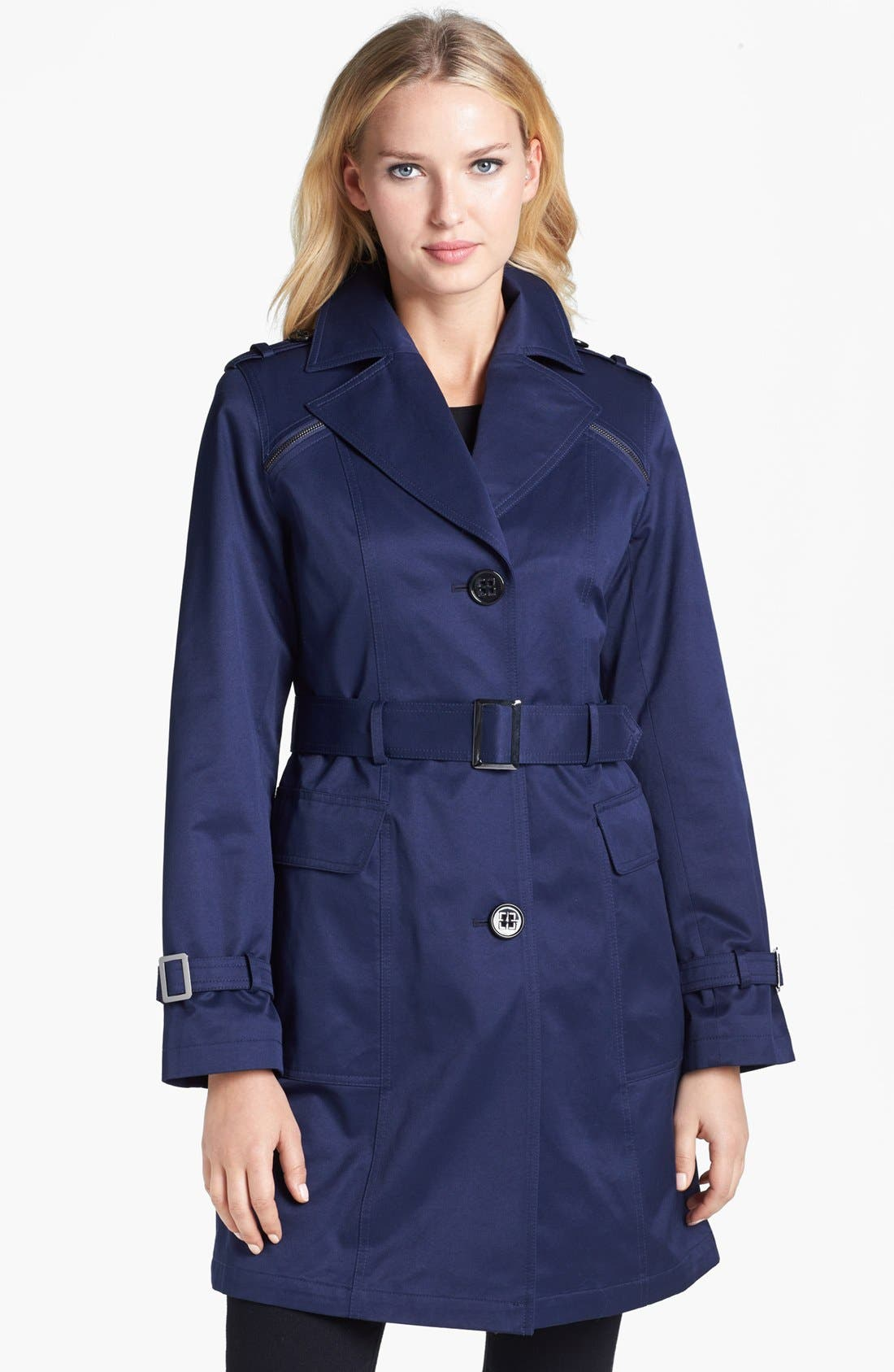 Alternate Image 1 Selected - Gallery Belted Trench Coat (Regular & Petite) (Nordstrom Online Exclusive)