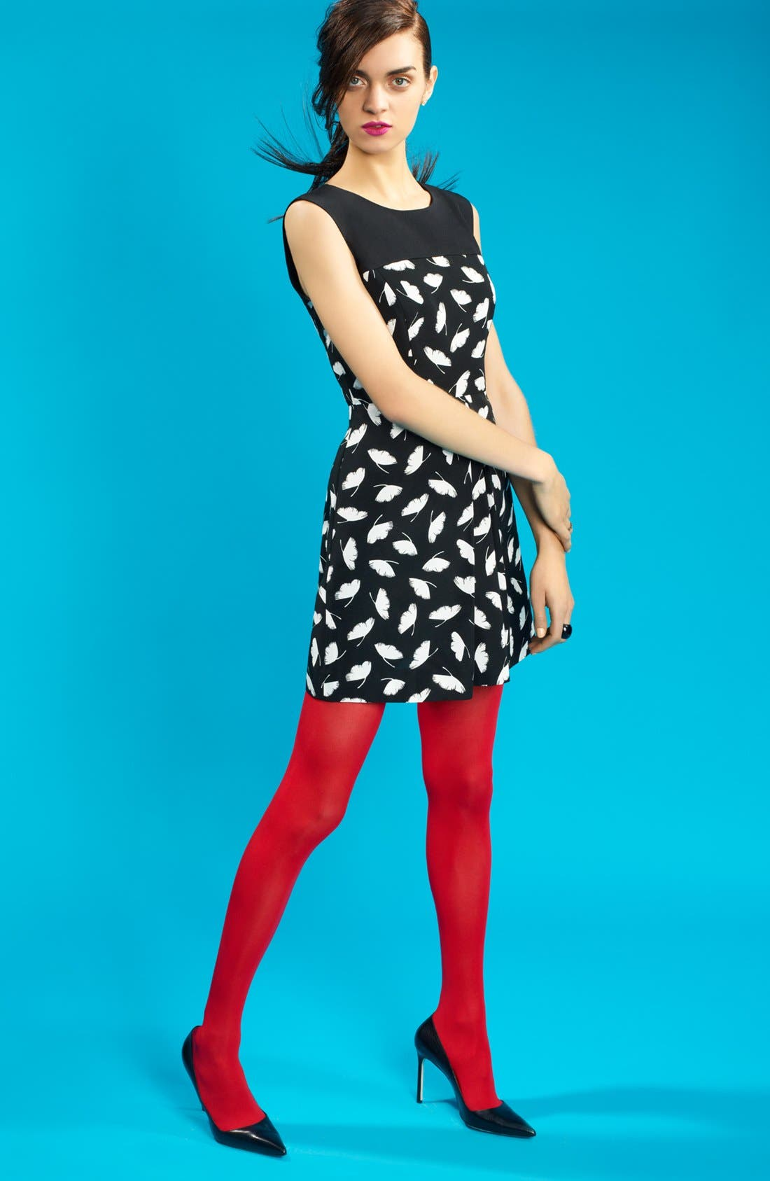 Alternate Image 4  - Miss Wu 'Delicate Leaf' Print Dress (Nordstrom Exclusive)