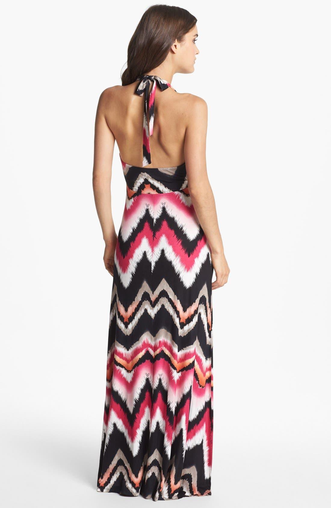 Alternate Image 2  - Felicity & Coco 'Jesenia' Print Halter Maxi Dress (Nordstrom Exclusive)
