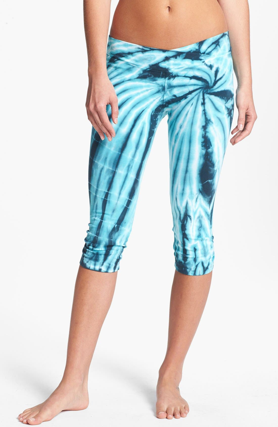 Alternate Image 1 Selected - Hard Tail 'Crossover Triple Triangle' Capri Leggings