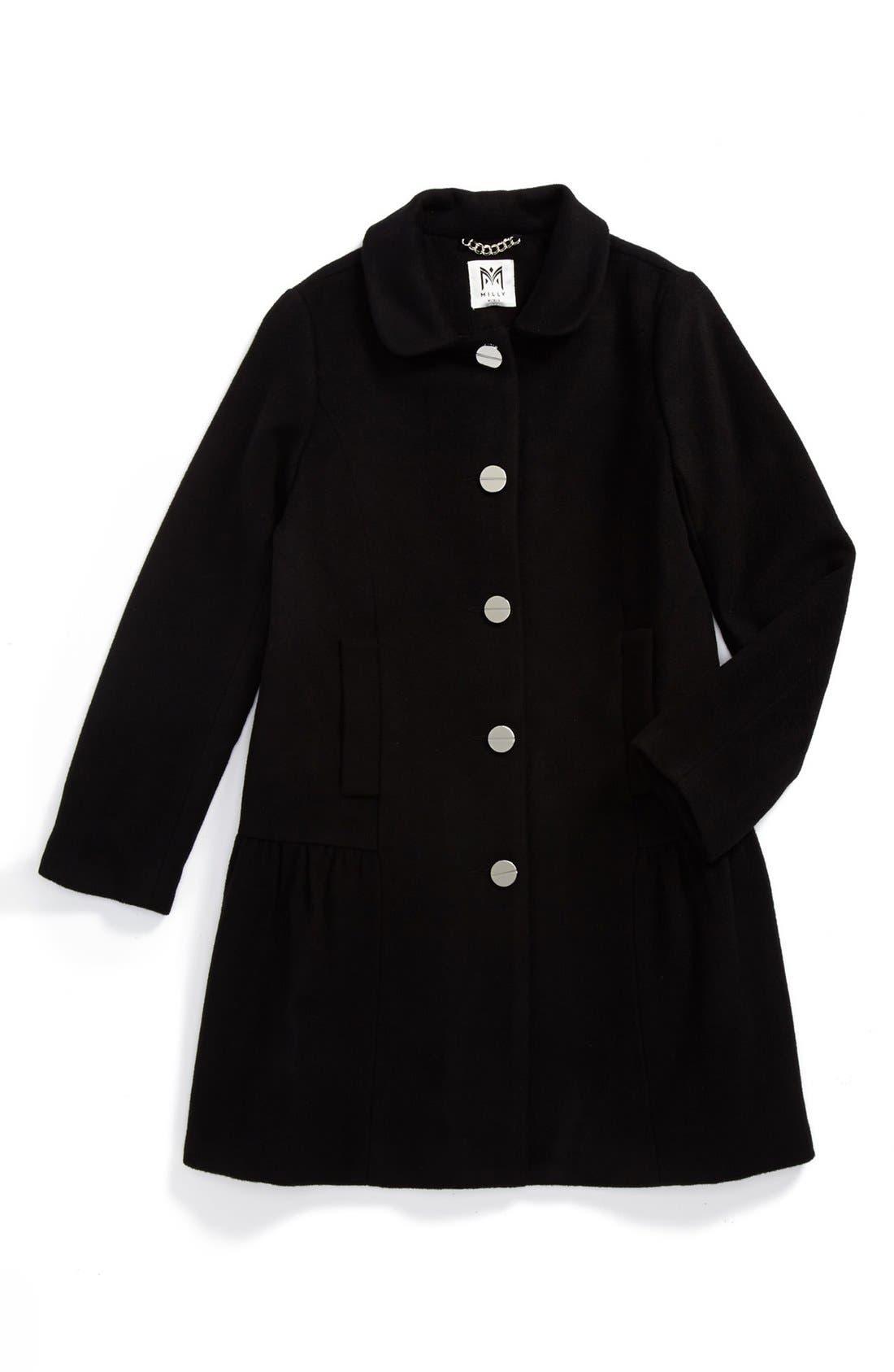 Main Image - Milly Minis 'Zoey' Peplum Coat (Big Girls)