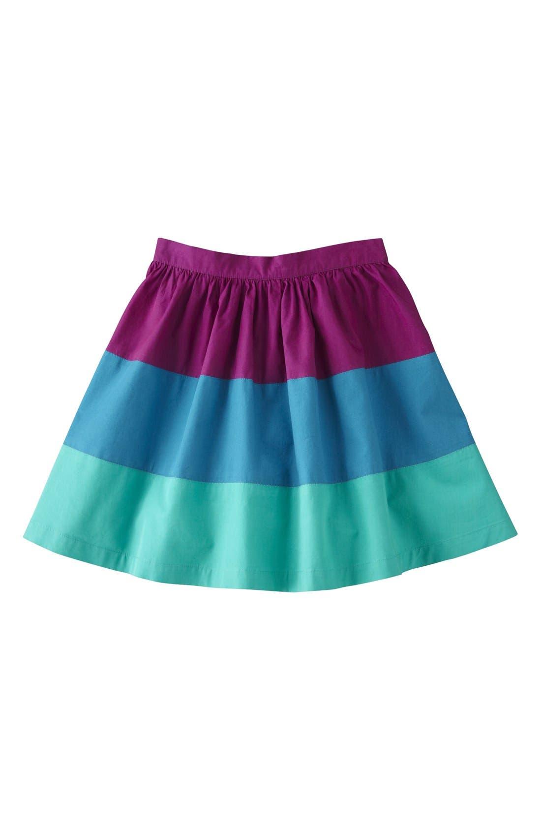 Alternate Image 1 Selected - Mini Boden Colorblock Skirt (Toddler Girls, Little Girls & Big Girls)