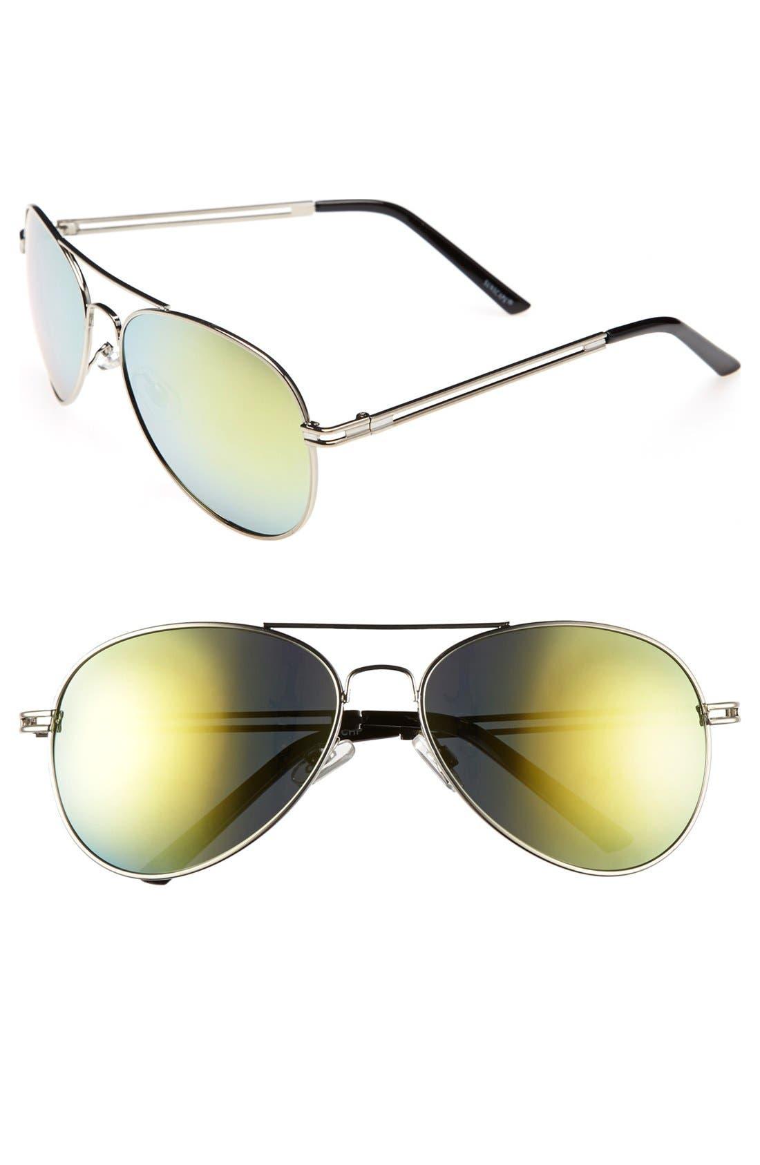 Alternate Image 1 Selected - BP. 'Flash' Aviator Sunglasses (Juniors)