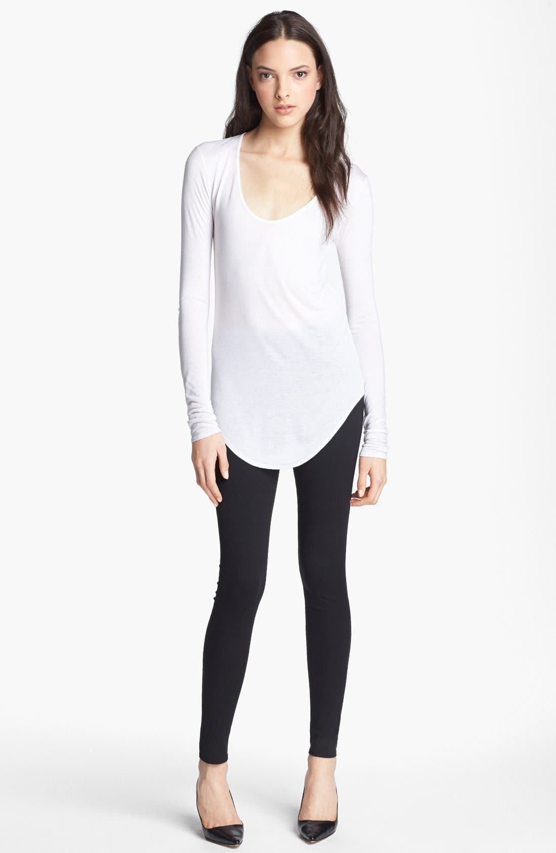 Alternate Image 1 Selected - HELMUT Helmut Lang 'Kinetic' Scoop Neck Jersey Tee