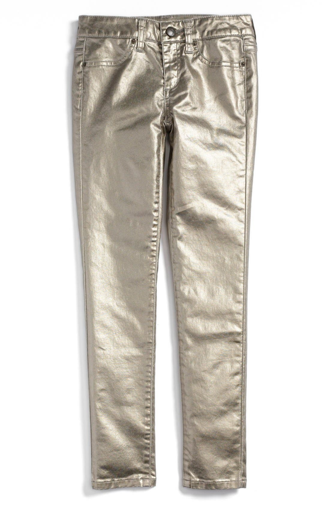 Alternate Image 2  - Joe's Foil Skinny Jeans (Big Girls)
