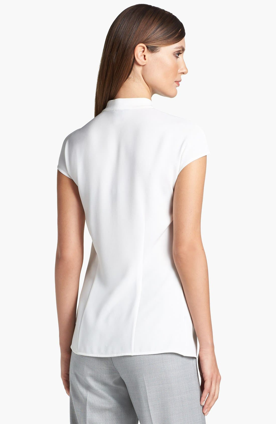 Alternate Image 4  - St. John Collection Double Ruffle Luxe Crepe Blouse