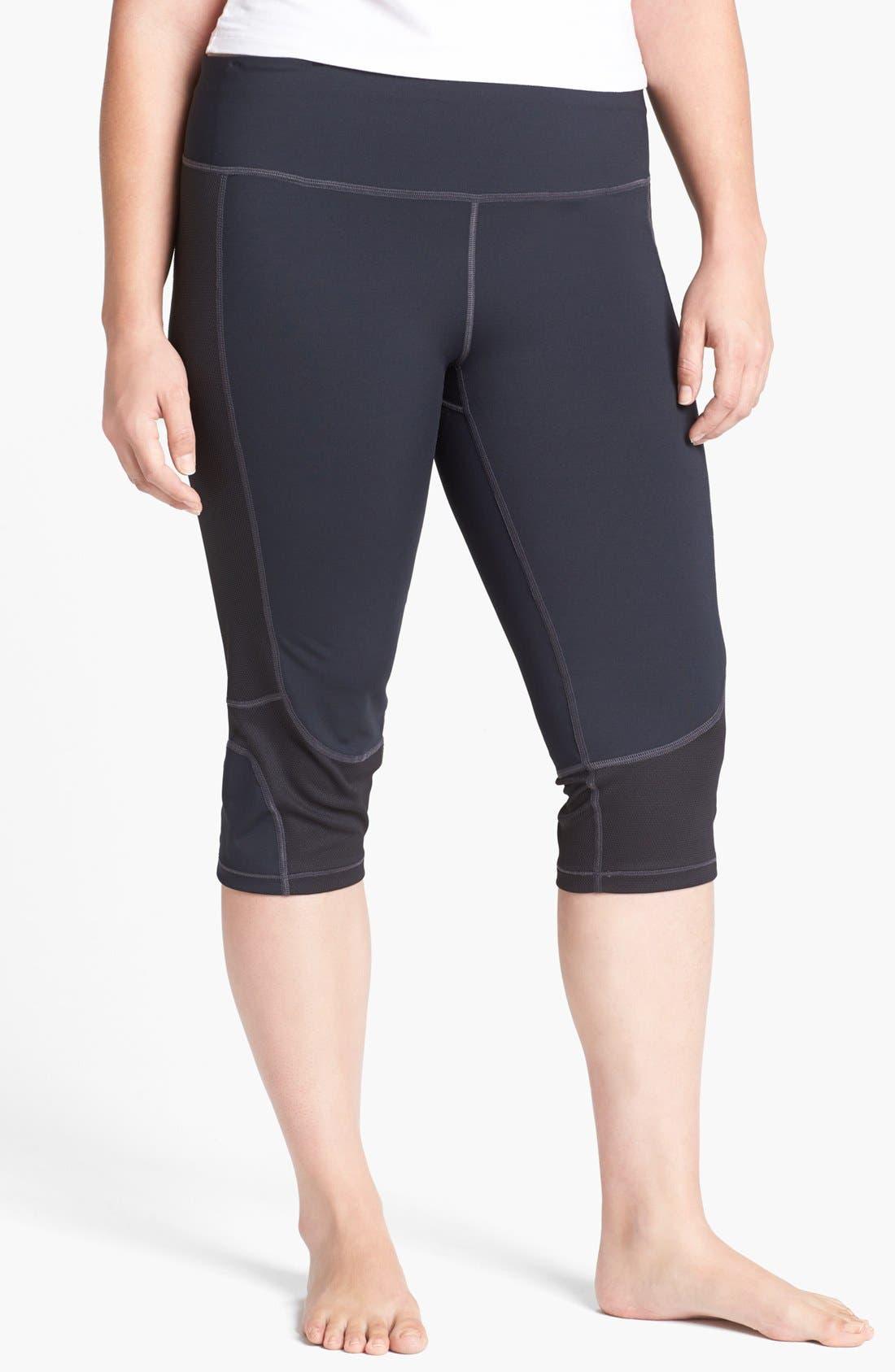 Alternate Image 1 Selected - Moving Comfort 'Fusionflex' Capri Leggings (Plus)