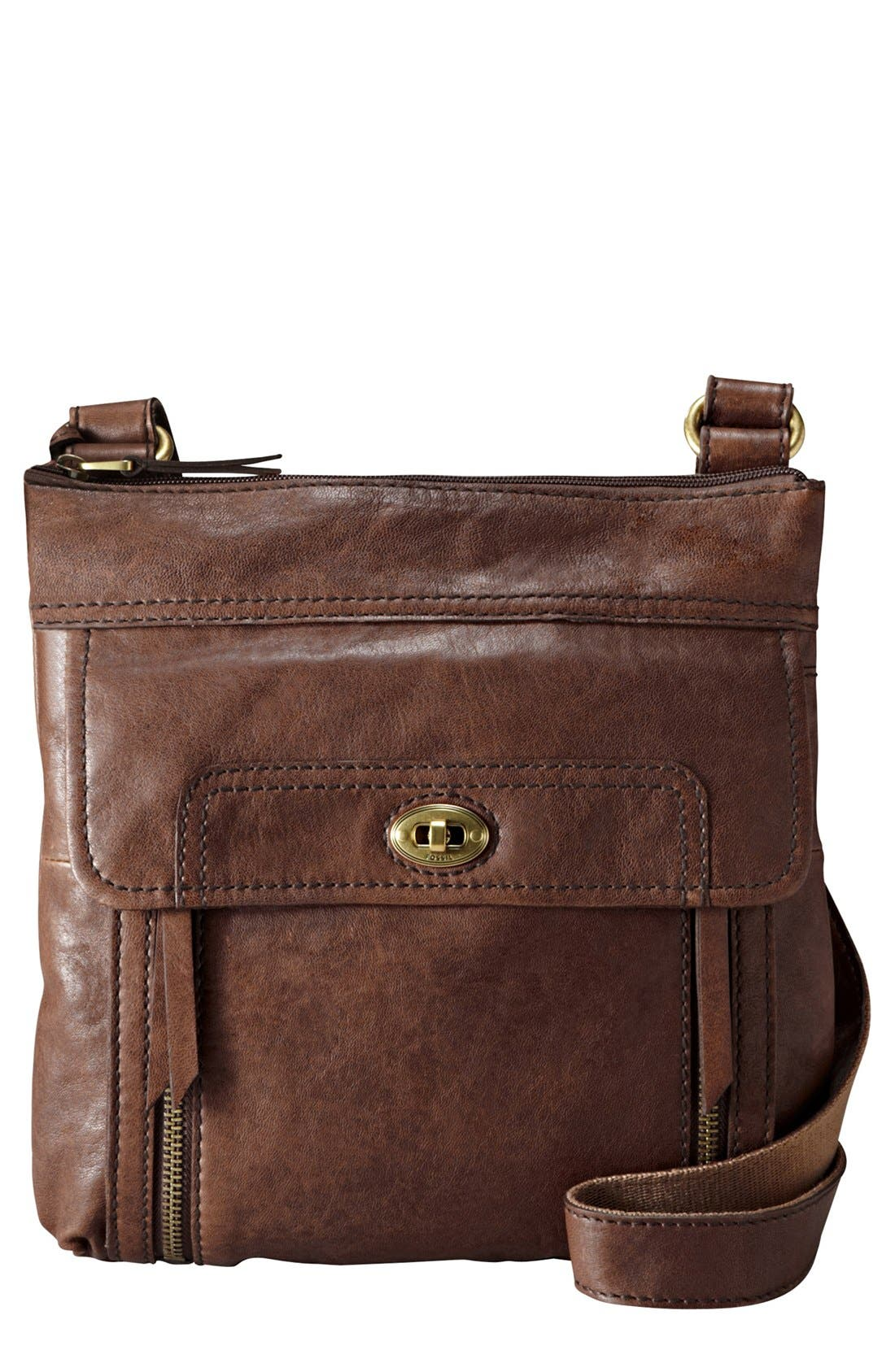 Main Image - Fossil 'Stanton Traveler' Crossbody Bag