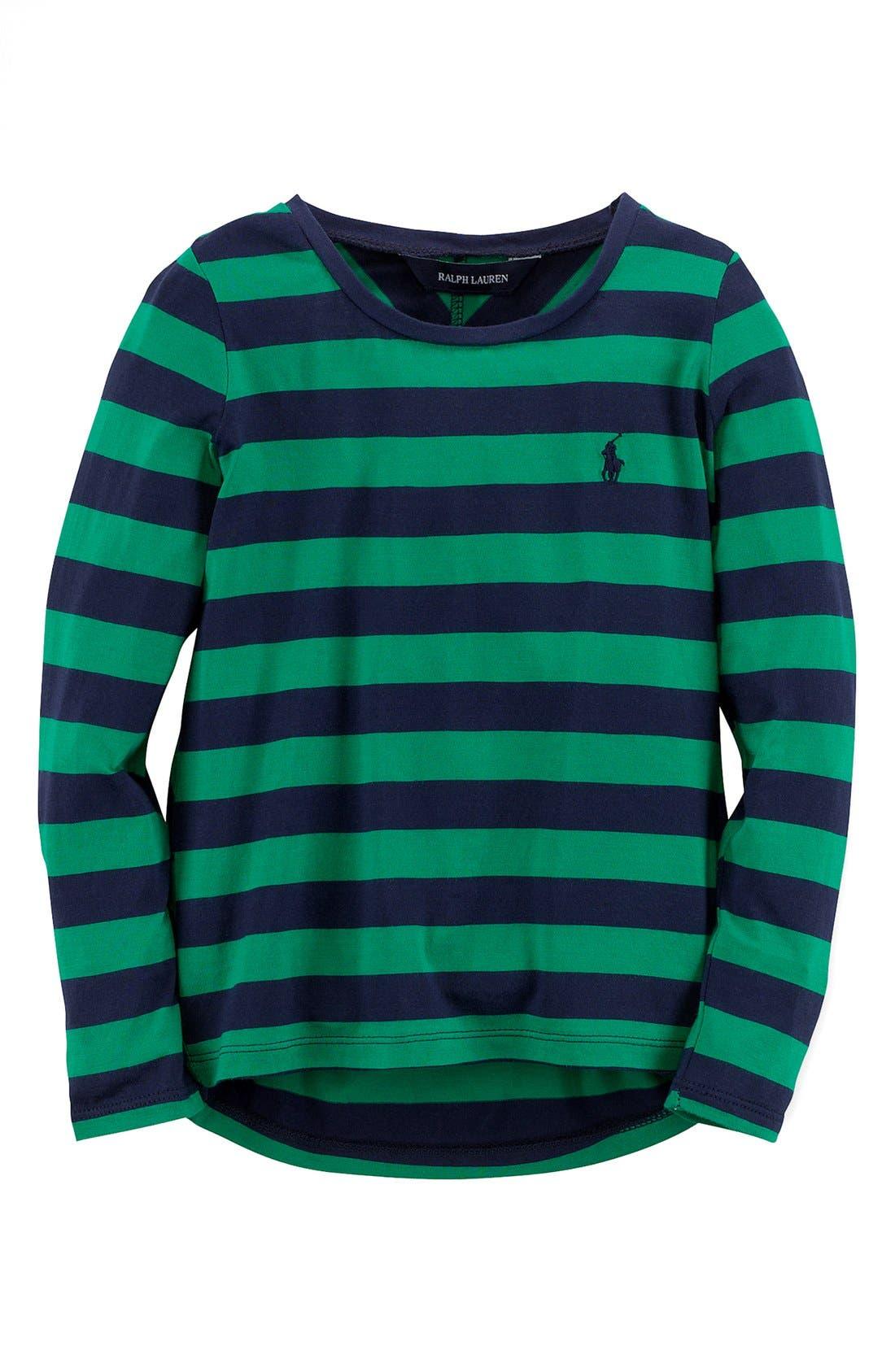 Alternate Image 1 Selected - Ralph Lauren Jersey Top (Toddler Girls)