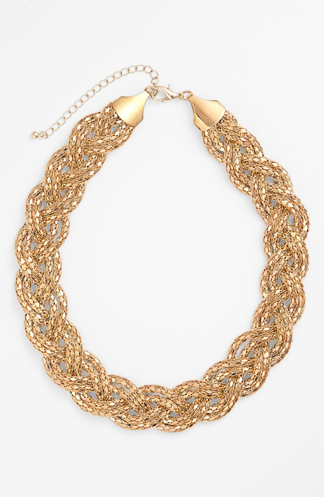 Alternate Image 1 Selected - Stephan & Co. Twisted Snake Chain Necklace (Juniors) (Online Only)