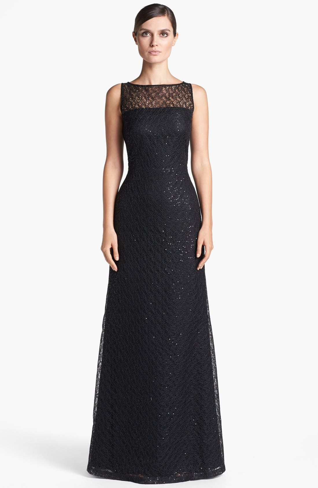 Main Image - St. John Collection Gossamer Lace Gown